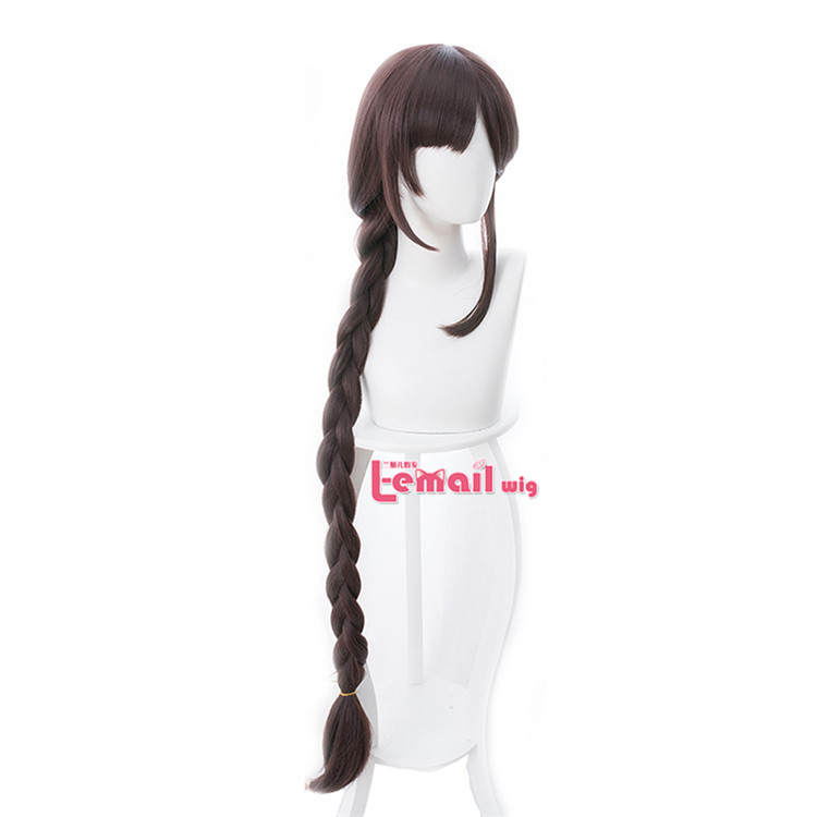 Synthetic Wigs L-email Wig Game Fate Grand Order Yu Miaoyi Cosplay Wigs 120cm Red Brown Heat Resistant Synthetic Hair Perucas Cosplay Wig Goods Of Every Description Are Available Synthetic None-lacewigs