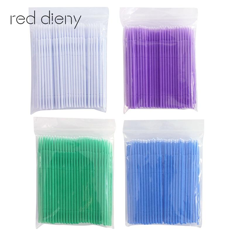 100pcs/lot Mascara Brush Swab Cotton Cleaning Rod Durable Micro Eyelash Extension Individual Applicators Makeup Tool