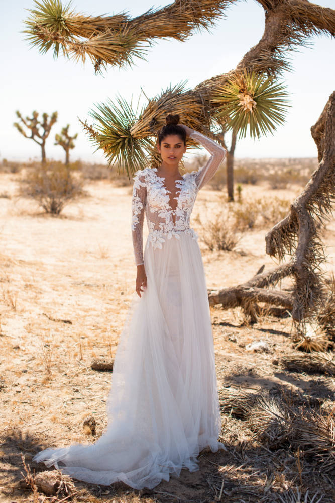 bohemian white flower summer new arrival 2019 long dress for wedding party for woman long sleeve backless mesh dress elegant in Dresses from Women 39 s Clothing