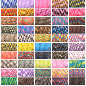 Image 3 - CAMPINGSKY 550 Paracord Parachute Cord Lanyard Tent Rope Mil Spec Type III 7 Strand 100FT Paracord For Hiking Camping 200 Colors