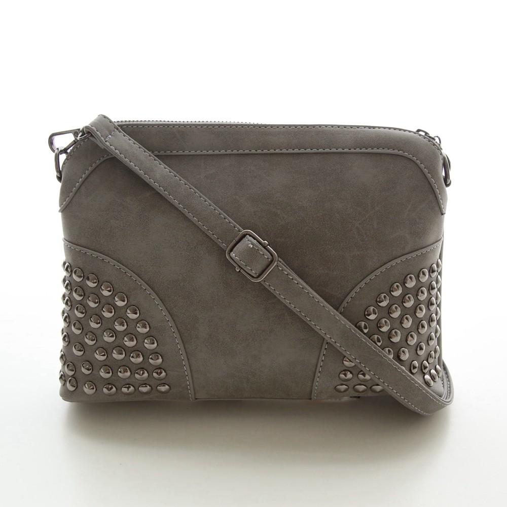 Rivet Shoulder Women Bag Vintage Scrub Shell Messenger Bags Chain Strap Crossbody Bag Clutch Bolsa Feminina Herald Fashion Brand (2)