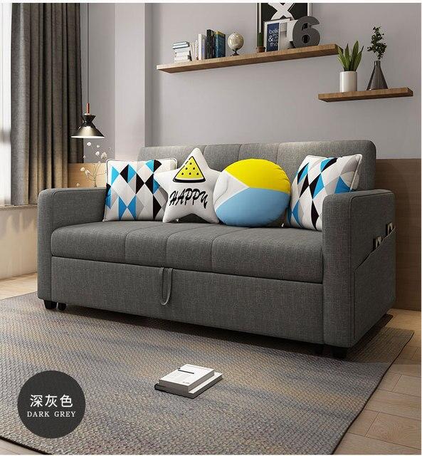 linen hemp fabric sectional sofas  Living Room Sofa set furniture alon couch puff asiento muebles de sala canape sofa bed cama 2
