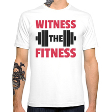 2017 New Witness The Fitness Men's Customized T-shirt Casual Basic Tops Hipster