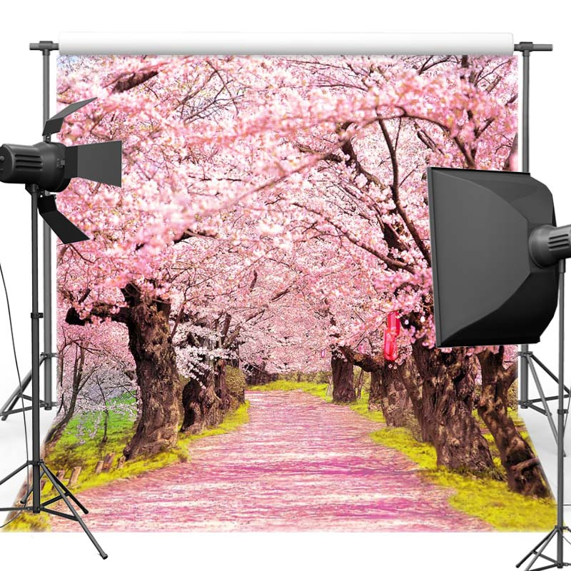 Mehofoto Pink Flower Tree Vinyl Photography Background For