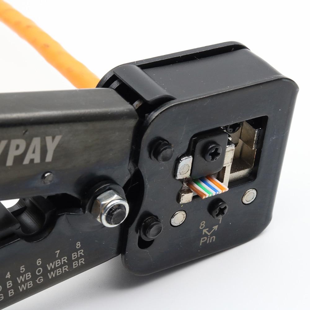 מזגנים רצפתיים ypay EZ כלי רשת מלחץ יד RJ45 כבל צבת RJ12 CAT5 CAT6 8P 6P RJ 45 חשפנית לחיצה מלקחיים מהדק תכליתי קליפ (5)