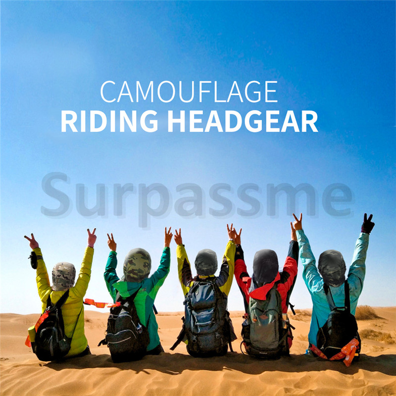 Camouflage riding headgear mask Army green
