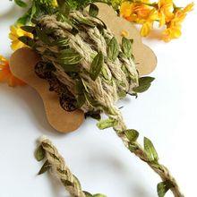 5 м/10 м DIY искусственные листья пеньковая веревка для украшения свадебной вечеринки льняная веревка фото настенные украшения пеньковая веревка цветок ремесла