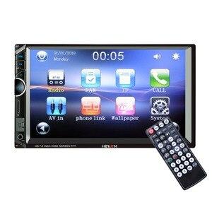Image 1 - 888 2 Din 12V samochód wielofunkcyjny radio, ekran dotykowy, 7 cal samochód MP5 odtwarzacz dla Apple telefon z systemem android połączenie
