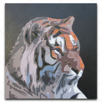 fierce tiger Oil Painting On Canvas Handpainted cartoon Painting Coloring home decoration wall art for bedroom or living room
