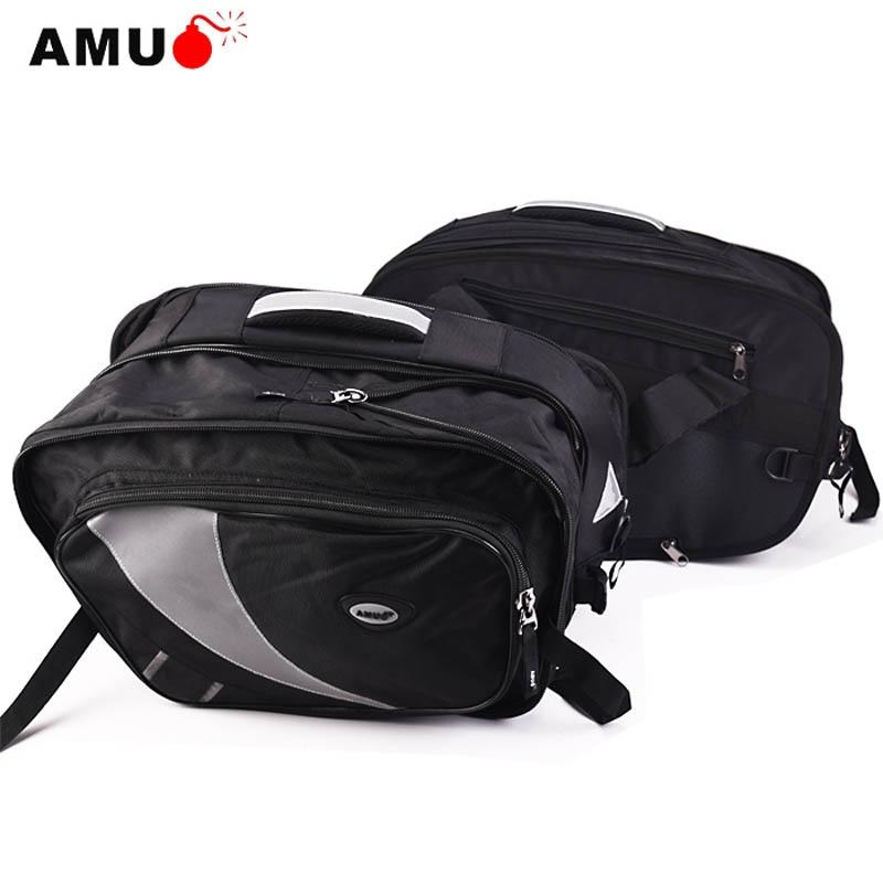AMU Motorcycle Saddle Bags Motorbike tank bag Motocross Helmet side Bag with Rain cover Tail Luggage