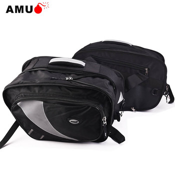 AMU Motorcycle Saddle Bags Motorbike tank bag Motocross Helmet side Bag with Rain cover Tail Luggage Oxford Bags