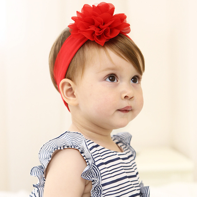 fashion baby girl headbands big red flowers toddler girls headband headwear bandeau bebes fille. Black Bedroom Furniture Sets. Home Design Ideas