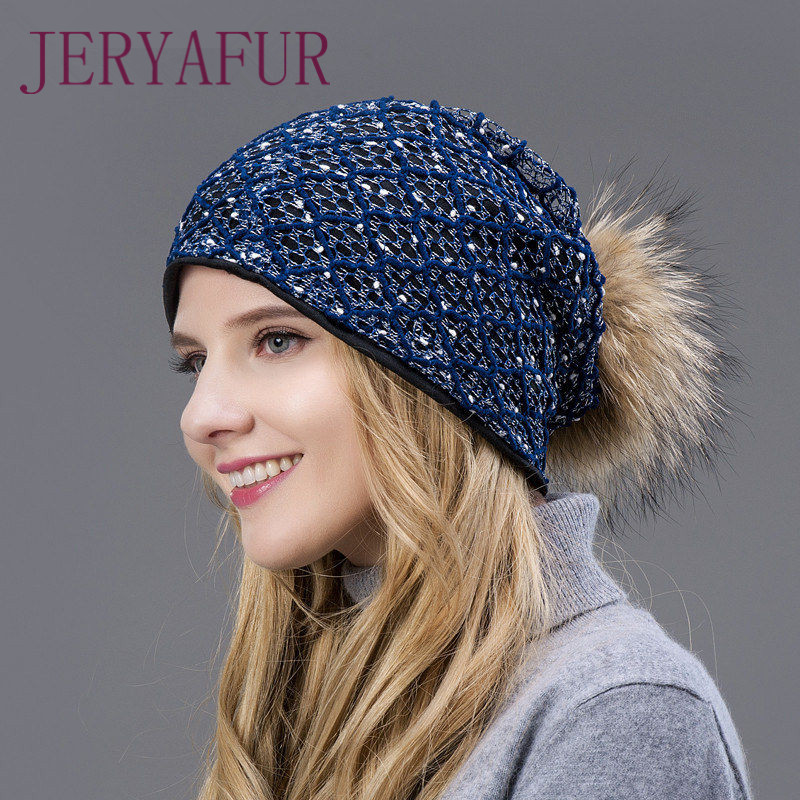 c27c323fbefda 2018 hot winter hat fur loose and hollowed hat for female fashion unique  eye-catching simple style hat