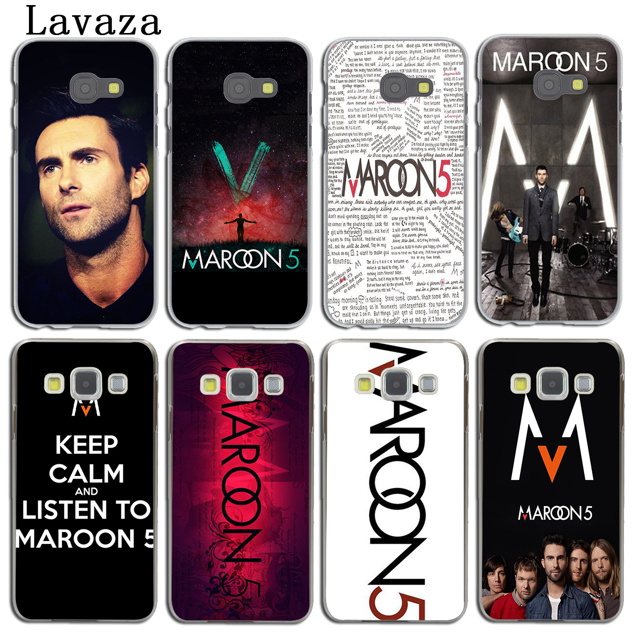 Lavaza maroon 5 Phone Cover Case for Samsung Galaxy A3 A7 A8 A5 2015 2016 2017 2018 Note 8 5 4 3 Grand 2 Prime