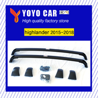 Горячая распродажа высокое качество винт Установить алюминиевый сплав Багажник перекладина для HIGHLANDER highlander 2015 2016 2017 2018