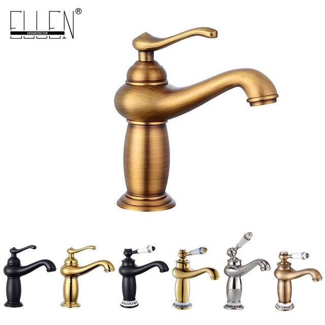 Antique Bronze Bathroom Sink Water Mixer Bathroom Crane Faucets ...