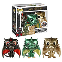 FUNKO POP Game of Thrones DROGON RHAEGAL & VISERION Exclusive Limited Edition Collectible Model Toys for Birthday Present Gifts