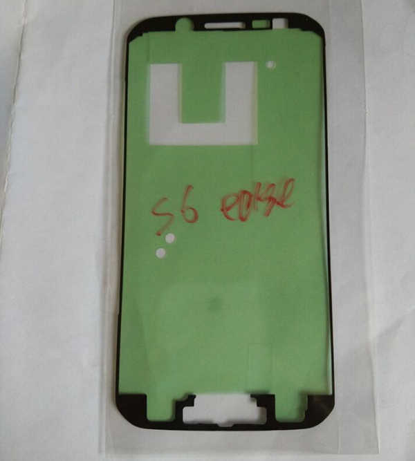 צג lcd המקורי חדשה מדבקת מסגרת מסך אחורי סוללה דלת כיסוי שיכון G925F קצה דבק מדבקה לגלקסי S6