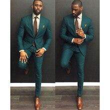 Verde Borgogna Abiti Da Uomo 2020 Trajes De Hombre Traje Homb Su ordine Dello Sposo Vestito di Vestito Per Gli Uomini 2 pezzo (jacket + Pants + Tie)