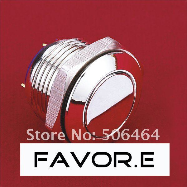 * 16mm Stainless steel IP65 car horn Momentary Push Button Switch Flat round PIN terminal-in Switches from Lights & Lighting    1