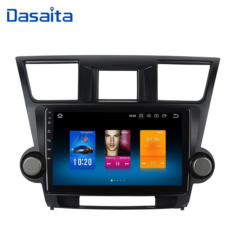 Dasaita 10 2 IPS Android 9 0 Car Multimedia for Toyota Highlander Radio 2009 2010 2011