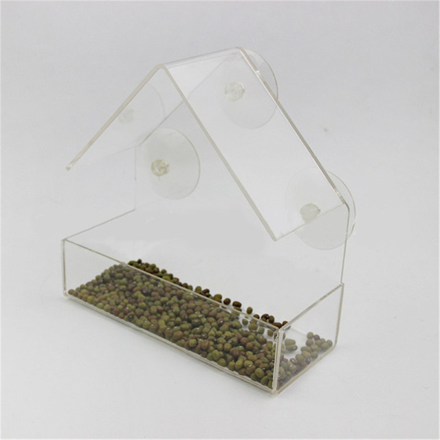 Transparent Window Outdoor Bird Feeder 3