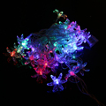 AC 220V 2W 6M Colorful 28-LED String Lights with EU-plug for Holiday / Party / Hotel / Park Decoration (Flower Shape)