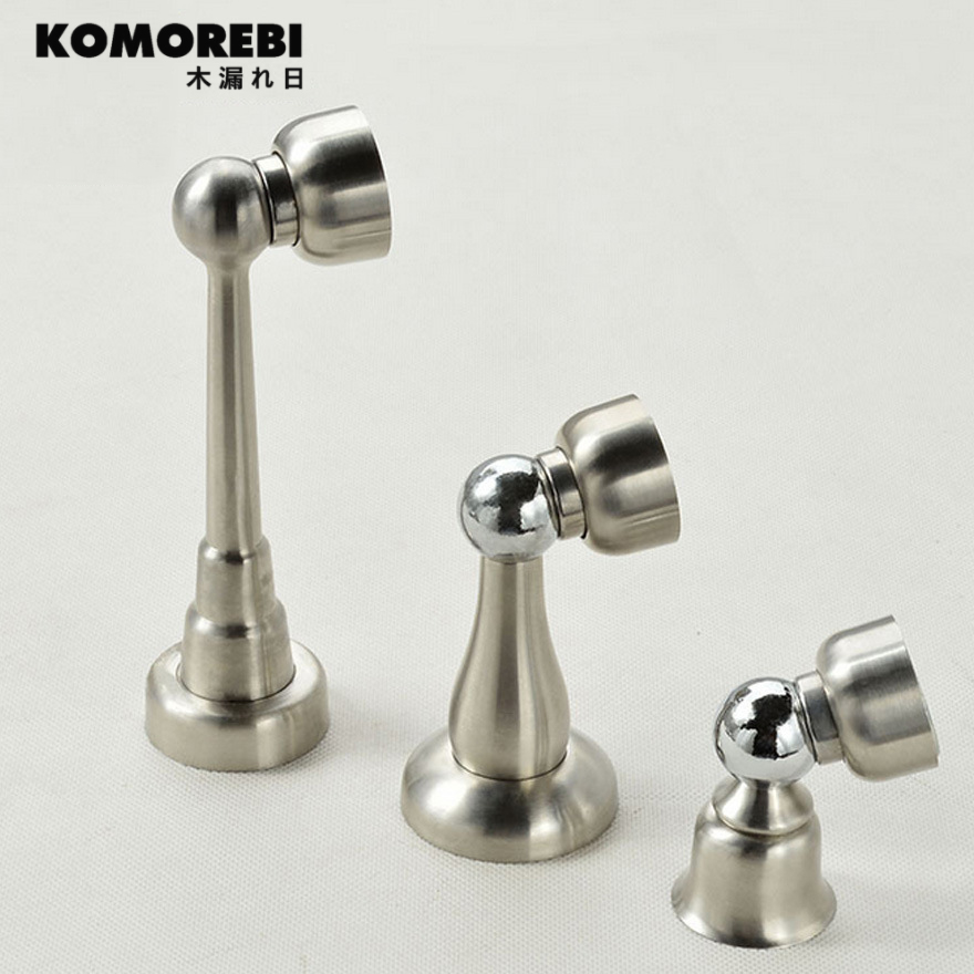 komorebi punching door suction suction magnetic force high quality stainless steel bathroom wall suction door anti-collision hit selling door magnetic stopper suction stainless steel alloy wall top 4 color