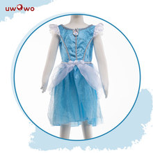 UWOWO  Princess Dresses Cinderella Dresses Cosplay Costume  Anna Elsa Cosplay Costume Kids Party Dress Baby Girls цена 2017