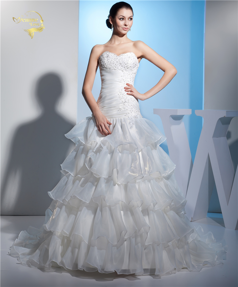 Tiered Wedding Gown: Jeanne Love New Hot Wedding Dresses 2019 Casamento Bridal