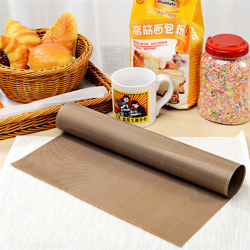 TTLIFE 50pcs lot Teflon Heat Press Pad Reusable Baking Mat Non Stick Craft Sheet Heat Resistant BBQ Grill Baking Mats Macaron in Baking Mats Liners from Home Garden