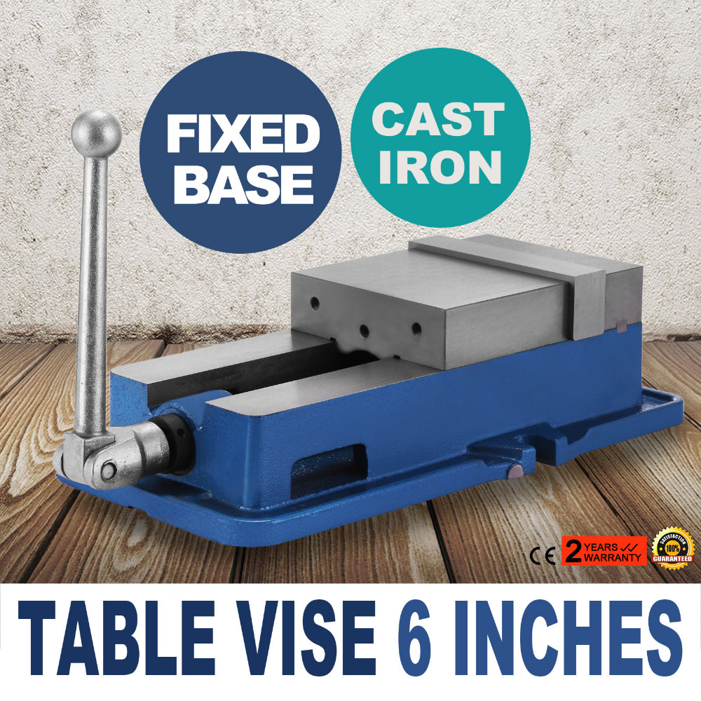 Precision Milling Vise 6 Inch ACCU Lock Vise with 6 Inch Jaw Width Milling Drilling Machine Lock Down Vise Bench Clamp 6 accu lock vise precision milling drilling machine bench clamp clamping vice