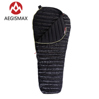 AEGISMAX Outdoor Camping Ultralight Goose Down Mummy Sleeping Bag Winter Autumn Spring Down Sleeping Bags UL