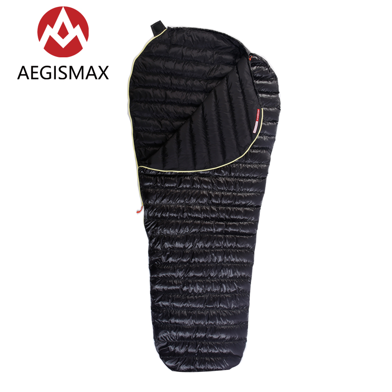 AEGISMAX Outdoor Camping Ultralight Goose Down Mummy Sleeping Bag Winter Autumn Spring Down Sleeping Bags UL-Wing парка canada goose 3811l 49