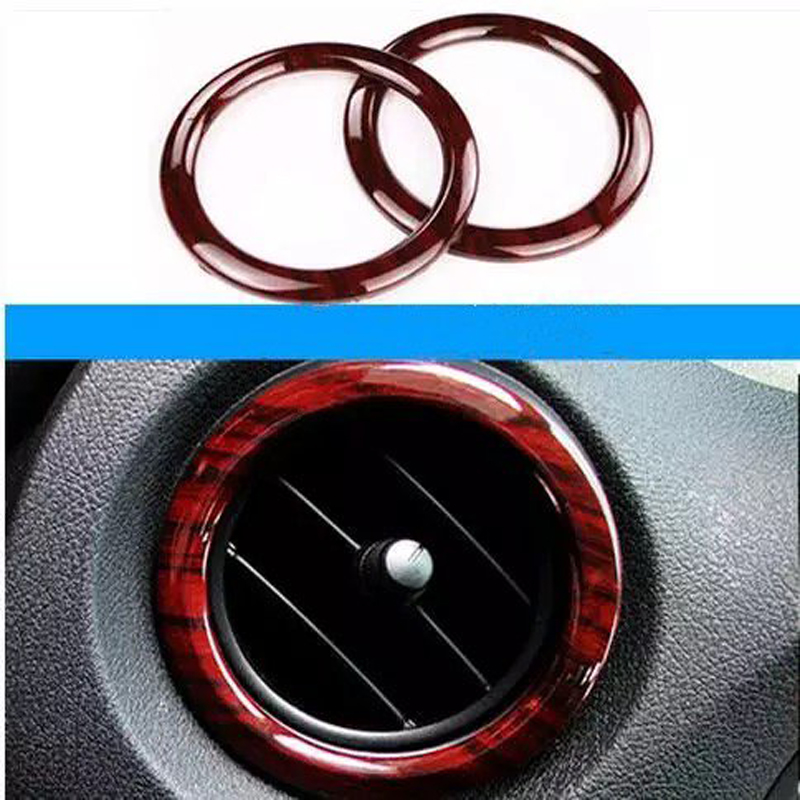 Brand New 2PCS Wood ABS Chrome Air Conditioner Outlet Vent Cover Trim For Mercedes Benz Vito 2016-2017 Car Styling Accessories image