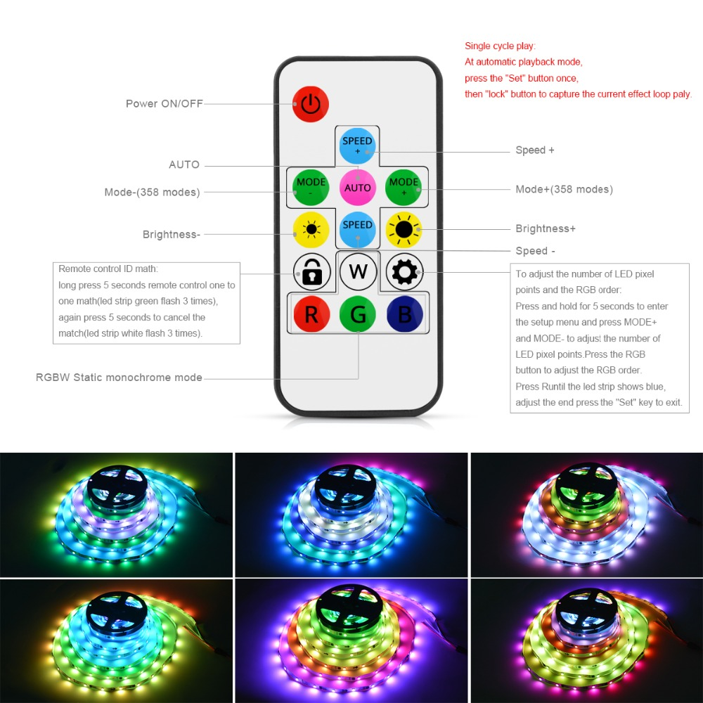 Aliexpress.com : Buy WS2812B LED Strip Individually Smart Pixel ...
