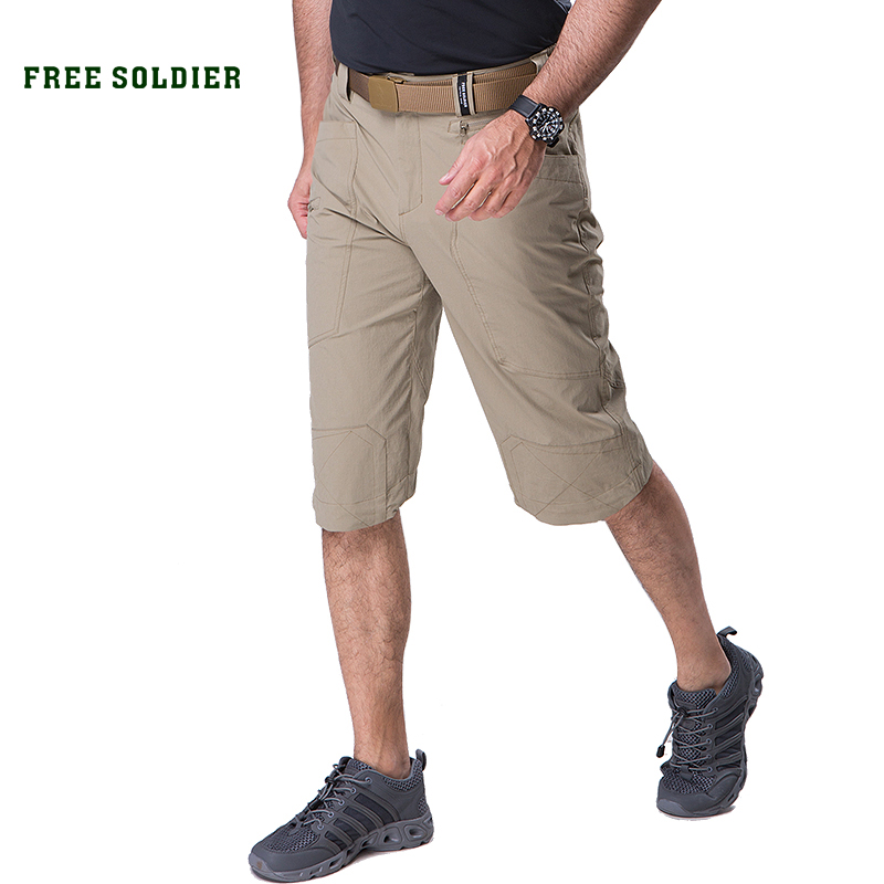 FREE SOLDIER outdoor sports climbing tactical military men s cropped trousers quick drying in summer lightweight