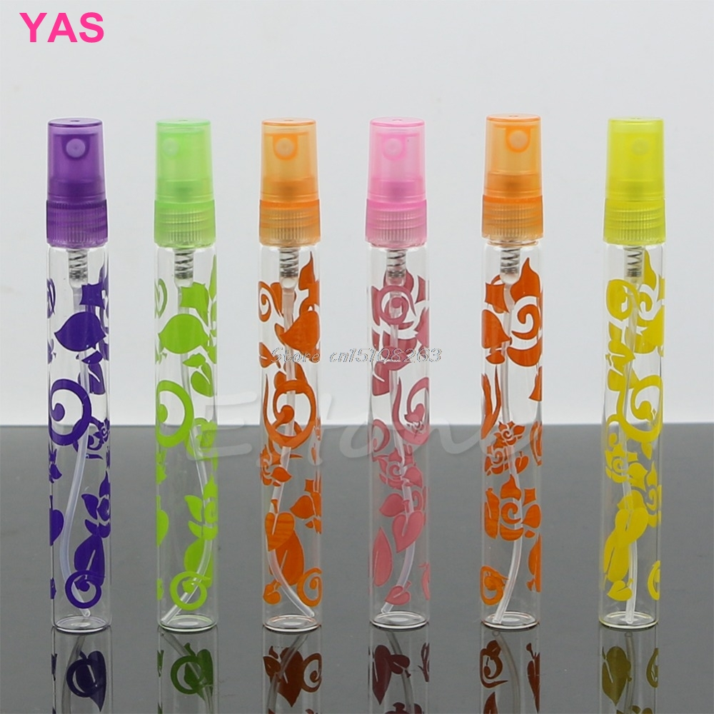 6 stk. 10ml Rose Crystal Cut Glass Parfume Sprayflasker Atomizer Refillable Empty # Y207E # Hot Sale
