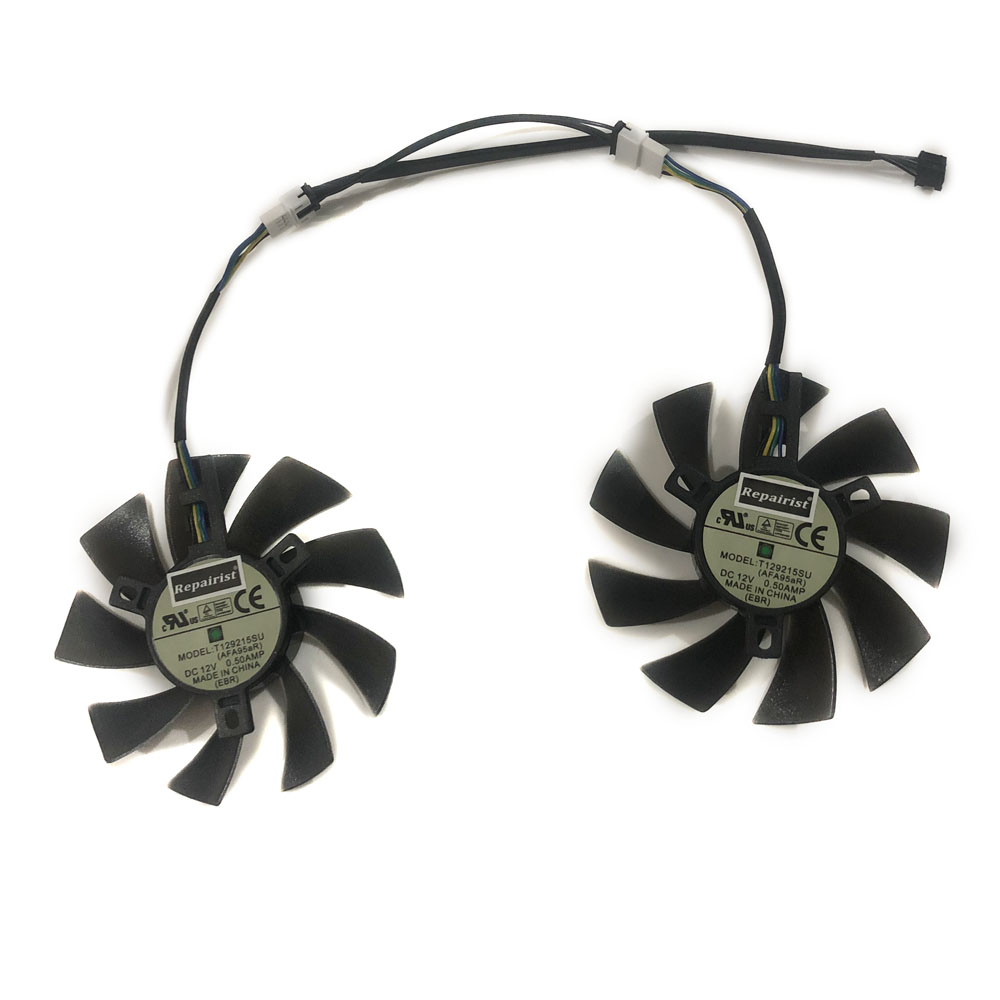 Купить с кэшбэком 2pcs/lot 4pin 85mm cooler Graphics card fan for REDEON RX 570 GIGABYTE rx570 gaming 4 GB video card GPU cooling
