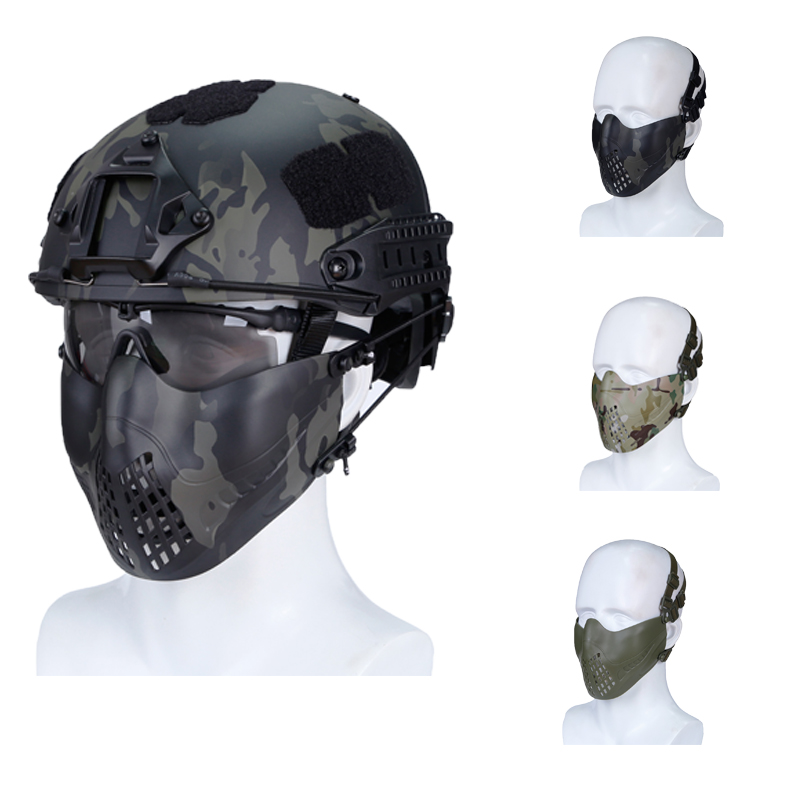 Tactical Paintball Masks Safety Outdoor Sports Half Face Hunting Shooting Mask Men Women Airsoft Protective Military Army Masks