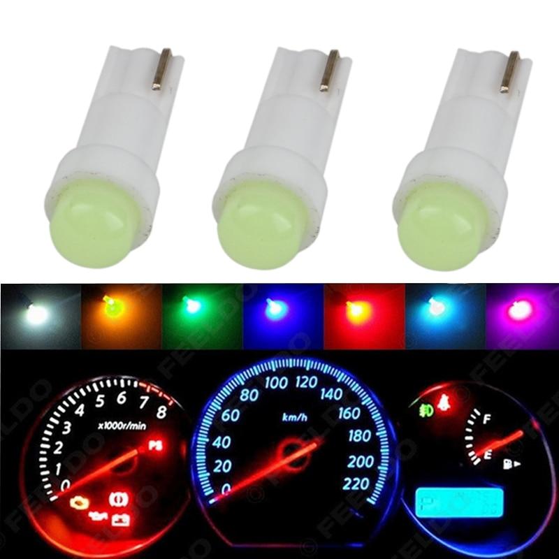 10PCS T10 194 168 W5W 12V 5A Wedge Interior Side Light Dash Panel Gauge Bulb