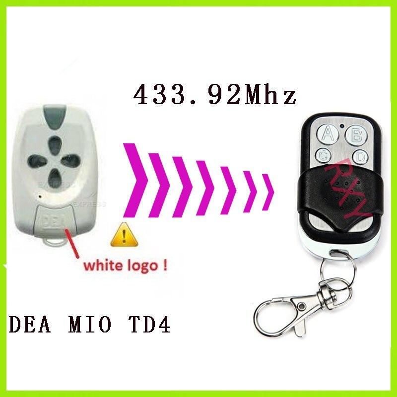 DEA MIO TD4 TD2 remote control 433.92MHz Duplicator gate garage door DEA MIO TD4 TD2 433mhz remote control