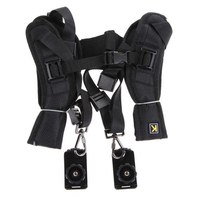 Adjustable Dual Camera Shoulder Strap
