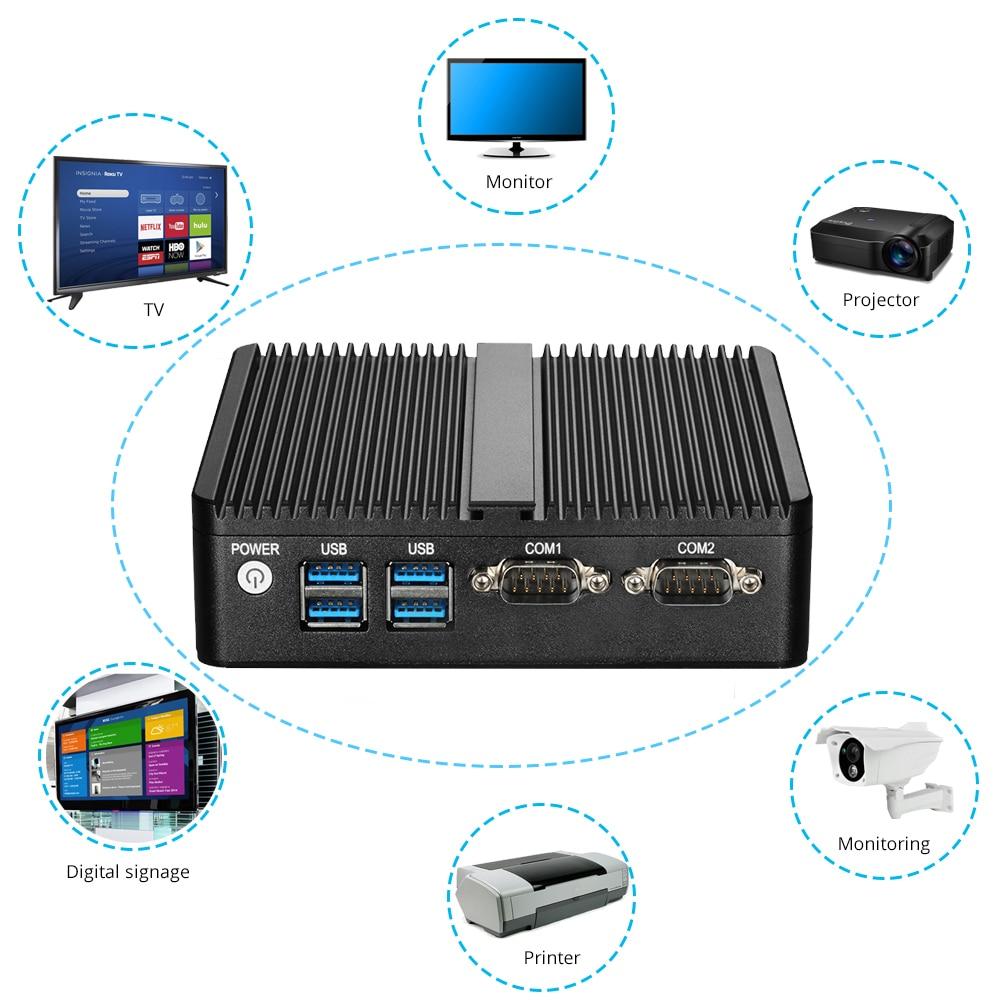 Mini Pc Windows 10 Celeron 3755 J1800 J1900 Pentium 3805u Mini Computer Dual Gigabit Ethernet 2x Rs232 Ports 4x Usb Pfsense #4