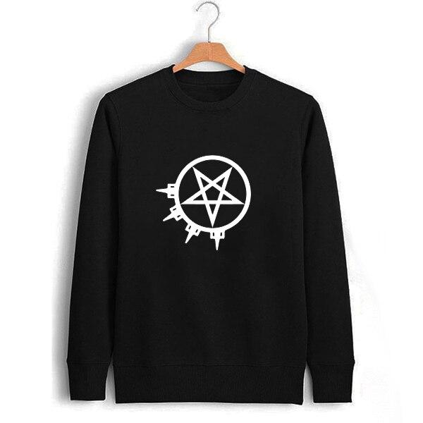 Arch Enemy Письмо Печати Толстовка Черный Музыкальная Группа Кофты Перемычка Megadeth Linkin Park Megadeth Тяжелых Металлов Зимняя Одежда