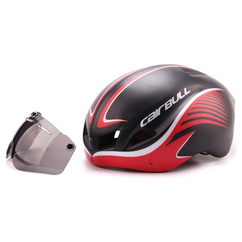 3 lentilles Aero 290g TT lunettes casque de vélo route vélo sport sécurité casque équitation hommes course dans le moule contre la montre cyclisme casques - 5