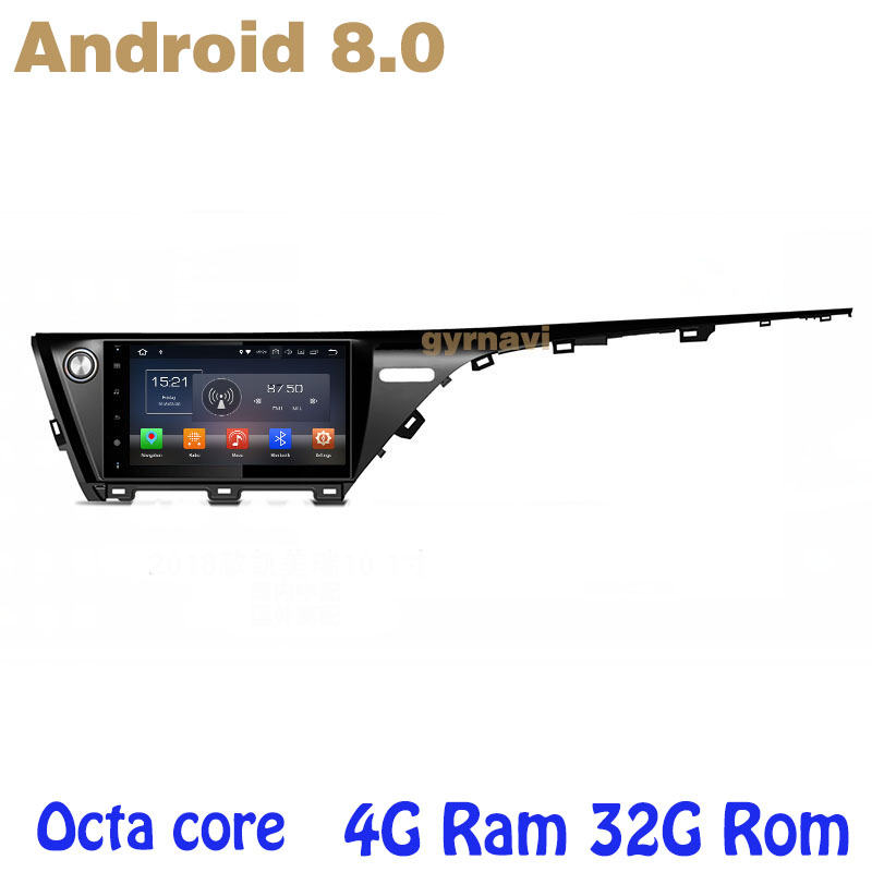 Octa core PX5 Android 8.0 car radio gps player for toyota camry 2017 2018 with canbus 4G RAM 32G ROM wifi 4g usb auto Multimedia octa core px5 android 8 0 car dvd gps for hyundai ix45 santa fe 2013 2015 with 4g ram 32g rom radio wifi 4g usb auto multimedia