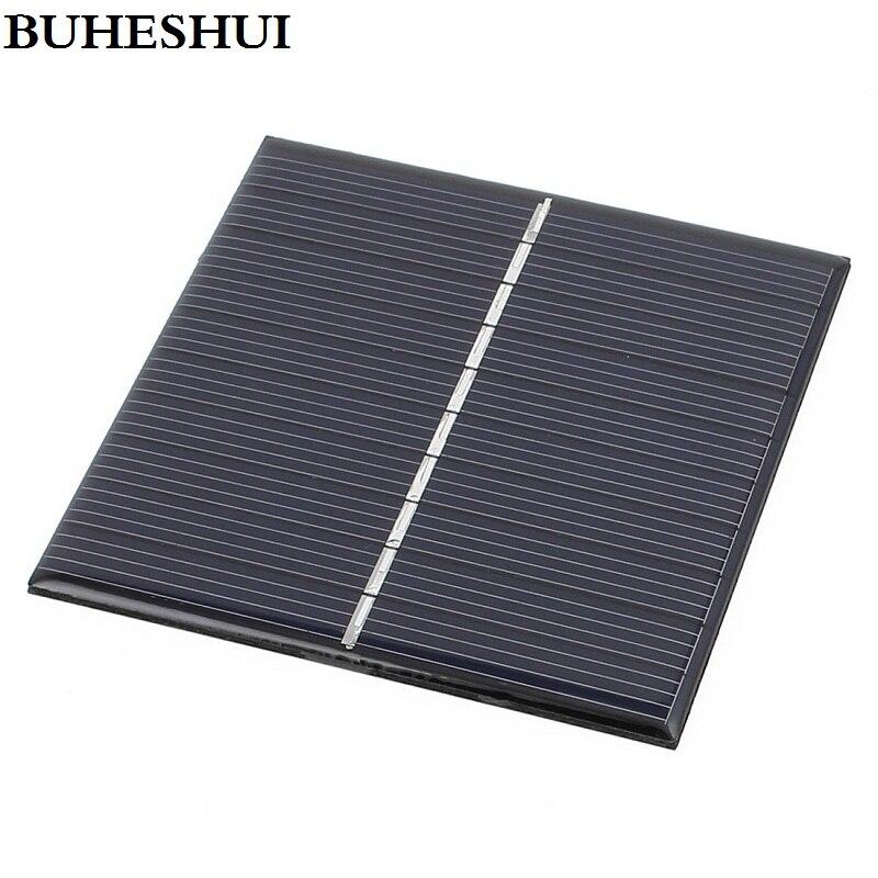 BUHESHUI 30 pièces 5 V 0.8 W polycristallin cellule solaire bricolage panneau solaire chargeur système 3.7 V batterie lumière étude Kits époxy 80*80 MM