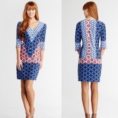 f7f7022210d Vestidos venta rushed medio vestido 2017 ropa mujer moda marca italiana  Bump color v-cuello