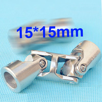 15mmx15mm OD24mm L88mm double universal joints coupling Stainless steel connector crossing shaft coupler RC Car Boat model parts
